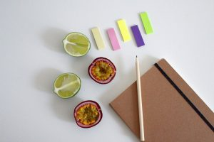 Notebook Write Fruit Paper Diary